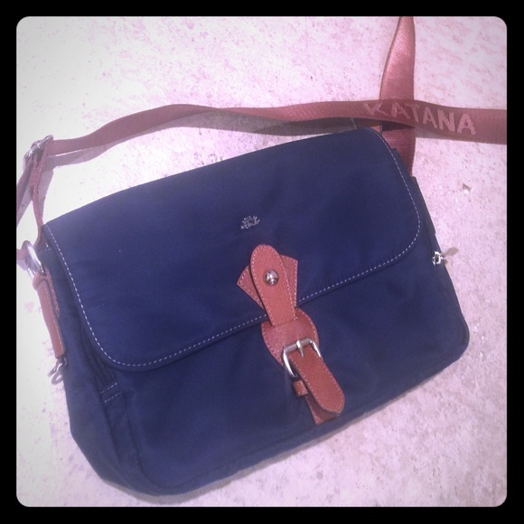 ffa2c1847d katana Handbags - Katana canvas navy blue shoulder purse