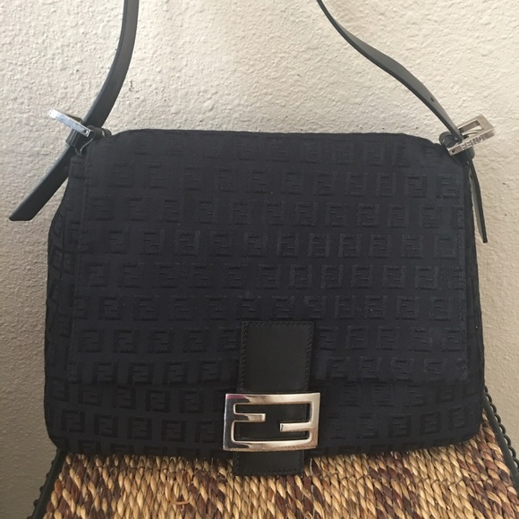 Fendi Zucchino Mini Mama Monogram Canvas Baguette
