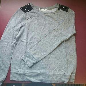 F21 Grey & Polka Dot Sweater Small