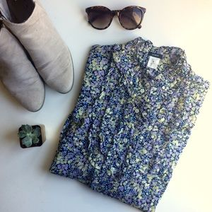 J. Crew Tops - J. Crew Floral Pinafore-Style Button Down