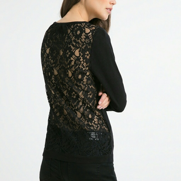 50% off Mango Sweaters - NEW Gorgeous Black Lace Sweater by MNG ...