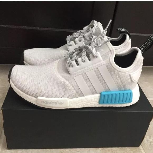 97ba28929 Adidas NMD R1 White Blue GS 5.5 Wmns 7