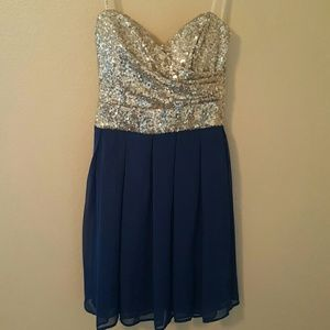 B Darlin  Dresses & Skirts - Last Call Donating Strapless Sequin Prom Dress