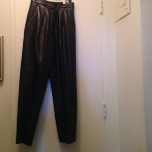 Maxima Pants - Women's Black Leather Pants
