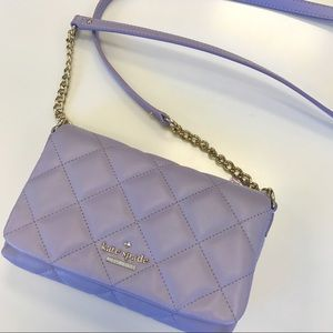Authentic Kate Spade Lilac Quilted Shoulder Bag