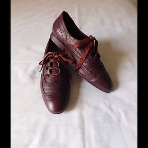 H By Hudson Shoes - Real Leather! Divine Burgundy Hudson Oxford Shoes