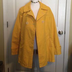 GAP yellow trench coat