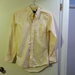 Lands end men's yellow button down shirt