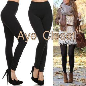 Boutique Pants - BLACK fleece lined leggings New OS