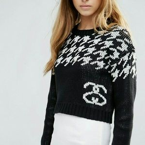 Stussy Sweaters - ASOS   Stussy Cropped Houndstooth Sweater