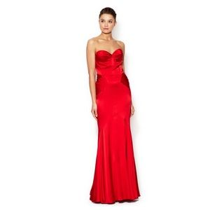 Z Spoke Zac Posen sweetheart satin mermaid gown