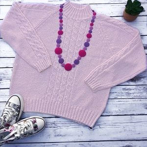 Vintage Knitted Soft Pink Girly Sweater