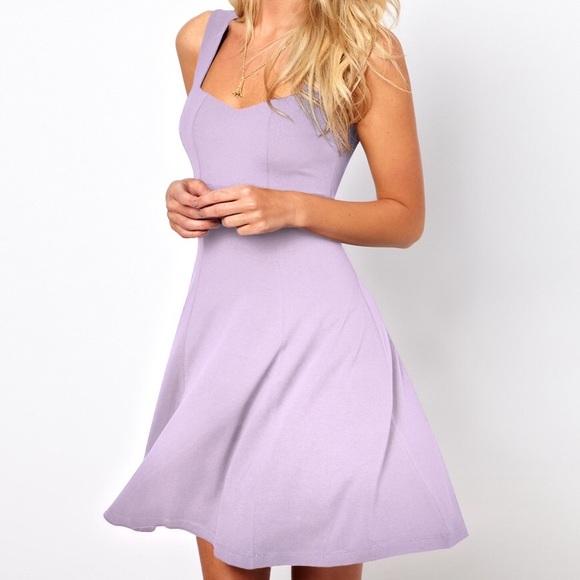 50% off ASOS Dresses & Skirts - ASOS lavender skater dress from ...