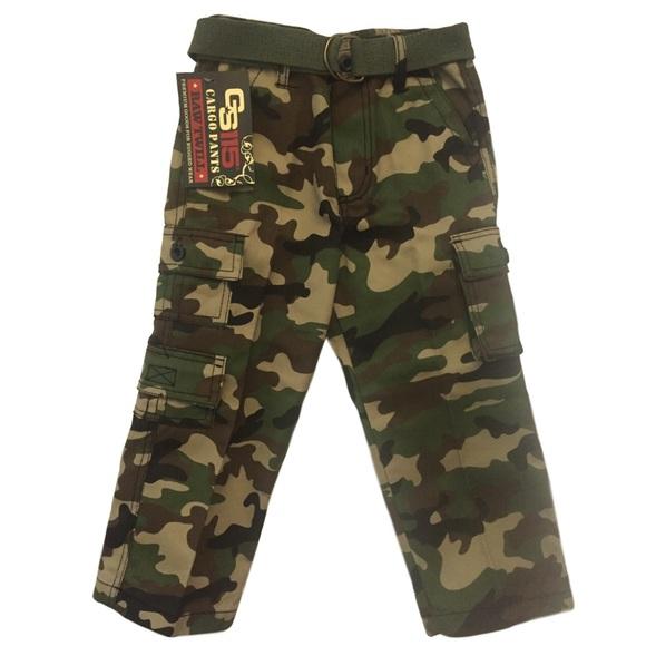 92eb171a53 GS 115 Bottoms   Camo Twill Cargo Pants 4t   Poshmark