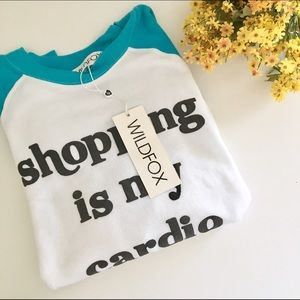 NWT Wildfox Shopping Is My Cardio Sweater SZ S