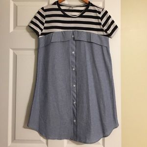Auditions Dresses & Skirts - Faux Button Down Dress
