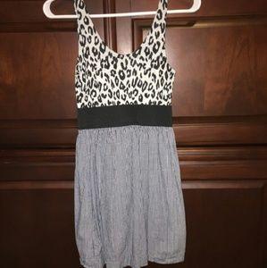 Cheetah/plaid mini dress