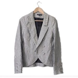 Olive Olivia Jackets & Blazers - Olive Olivia striped button blk/white blazer