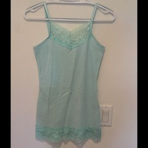 Romy Tops - Mint green Romy top with spaghetti straps, size S