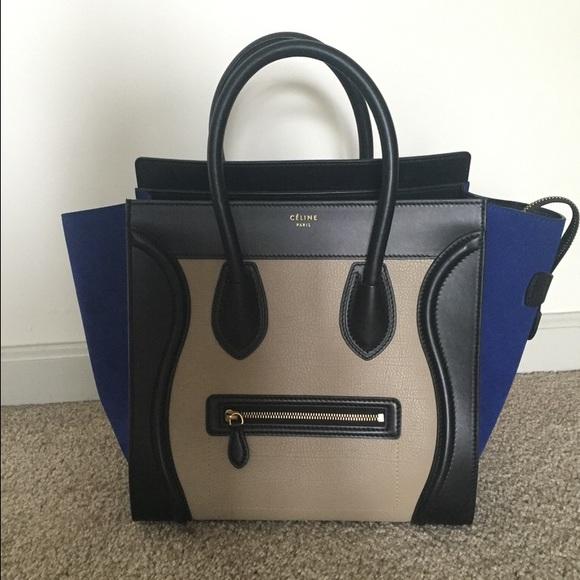 1bff9ed388a Celine Bags   Tricolor Luggage Tote Leather Mini   Poshmark