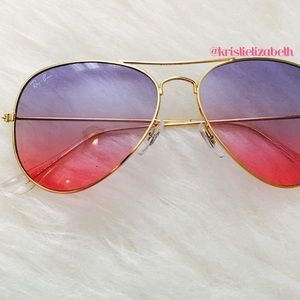 Ray Ban Style Ombré Aviators Sunglasses