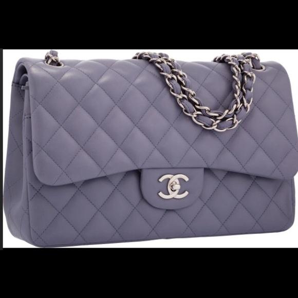 Jumbo double flap classic lavender handbag. Boutique. CHANEL 8a768b1fe