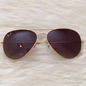 Ombré Ray Ban Style Coffee Tint Aviator Sunglasses