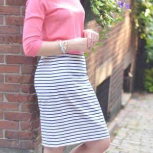 J. Crew Factory Stripe Pencil Skirt
