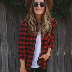 NWT Trendy Plaid Flannel Shirt S