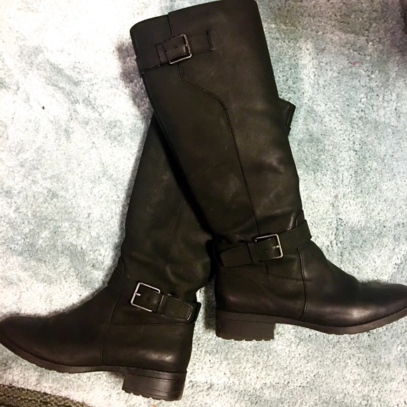 72a073b782c Cole Haan Shoes | Black Leather Marla Tall Boots | Poshmark