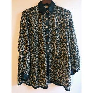 SAM. Tops - {SAM} | Leopard Print Tunic Button Down