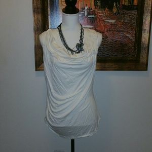 NWOT Max Studio Large Ivory Rouched Top