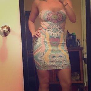 A3 Design Dresses & Skirts - All over print mini bodycon dress