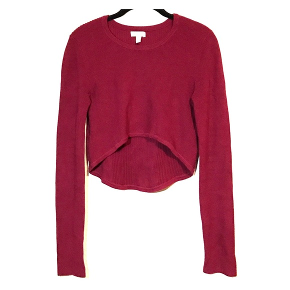 50% off Urban Outfitters Sweaters - Silence   Noise red cropped ...