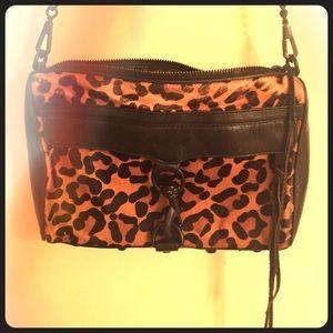 Rebecca Minkoff MAC calf hair leopard / black bag