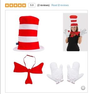 Accessories - Cat in the hat Halloween costume kit
