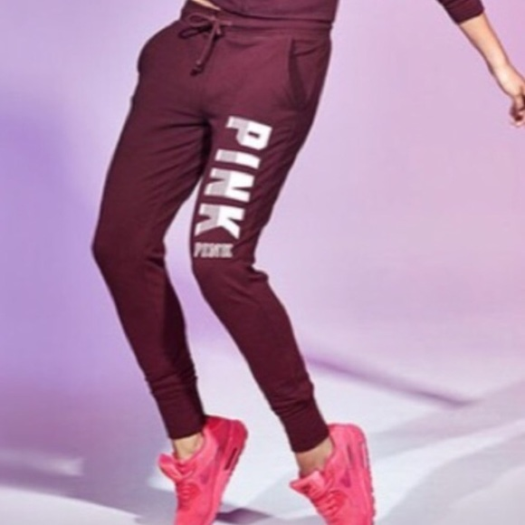 big discount of 2019 premium selection how to choose Victoria's Secret PINK Skinny Collegiate Joggers
