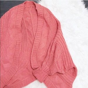 Sweaters - Coral slouchy Knit Sweater