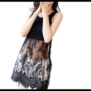 DARLING Dresses & Skirts - 🆕 ON TREND BLACK LACE EXTENDER DRESS