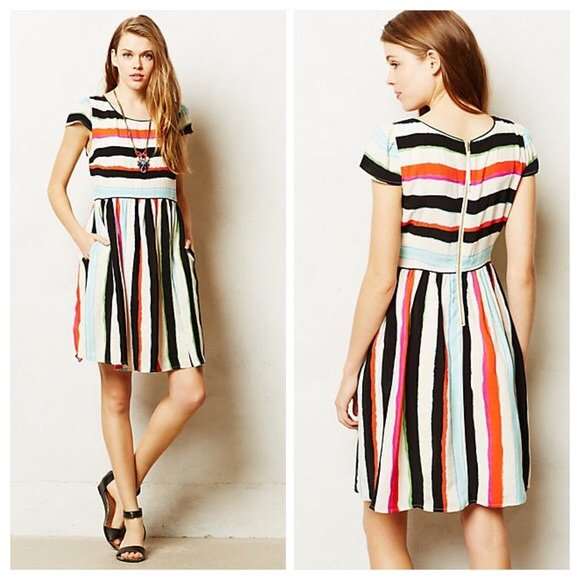 099d500b1 Anthropologie Dresses & Skirts - Anthropologie Maeve Colorful Striped Dress