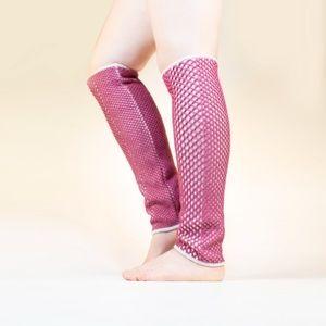 "Emily Keller Shoes - Emily Keller Cranberry ""python"" boot sock"