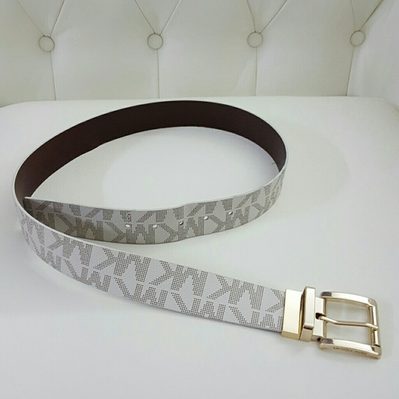 4171fbfac986 M 581d8437c2845669ca01d274. Other Accessories you may like. MK Logo  reversible belt Michael Kors
