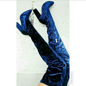 Starlight Footwear  Shoes - Last 6!!💙 Velvet Royal Blue Over Knee Boots