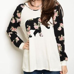 Tops - 🆑🐘Elephant and floral🌼 hoodie!!