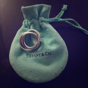TIFFANY & CO.  Sterling Silver Triple Roll Ring