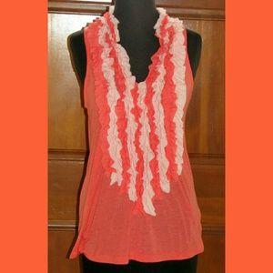 Olivia Moon Tops - New Olivia Moon orange soft, thin tank blouse M
