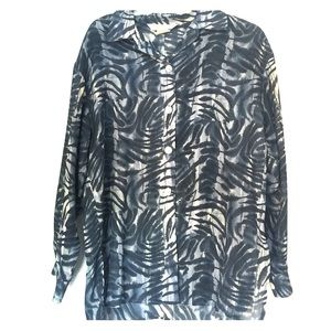 Buttoned blouse. Size S but fits like a Large