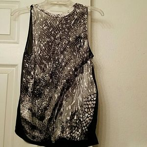 Guess black, white, and silver top sz small