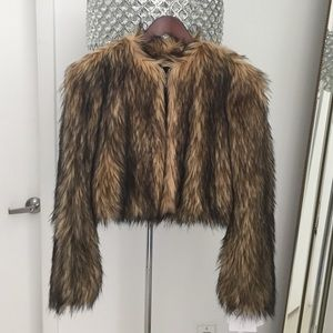 Stunning Valentino Faux Fur Jacket Size 36