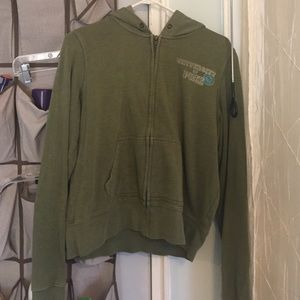 PINK VS OLIVE GREEN HOODIE SIZE L